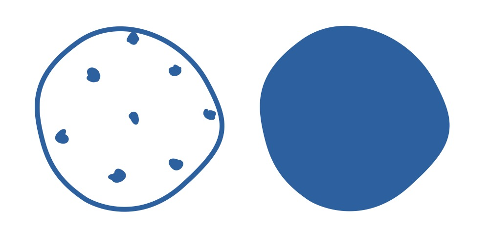 shape: circle AND fill_color: blue
