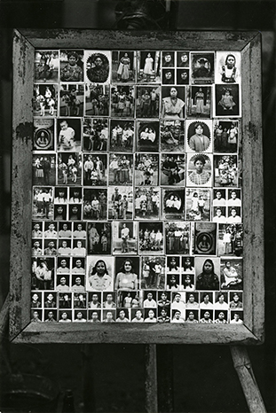 Framed Board Showing Photographer's Samples