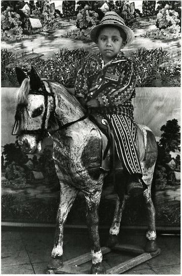 Boy Astride Papier-Mâché Horse, Sololá