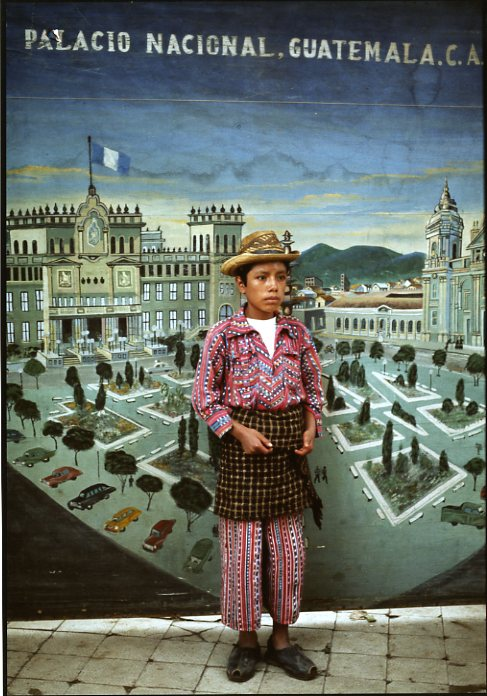 Country Boy with Cityscape, Sololá