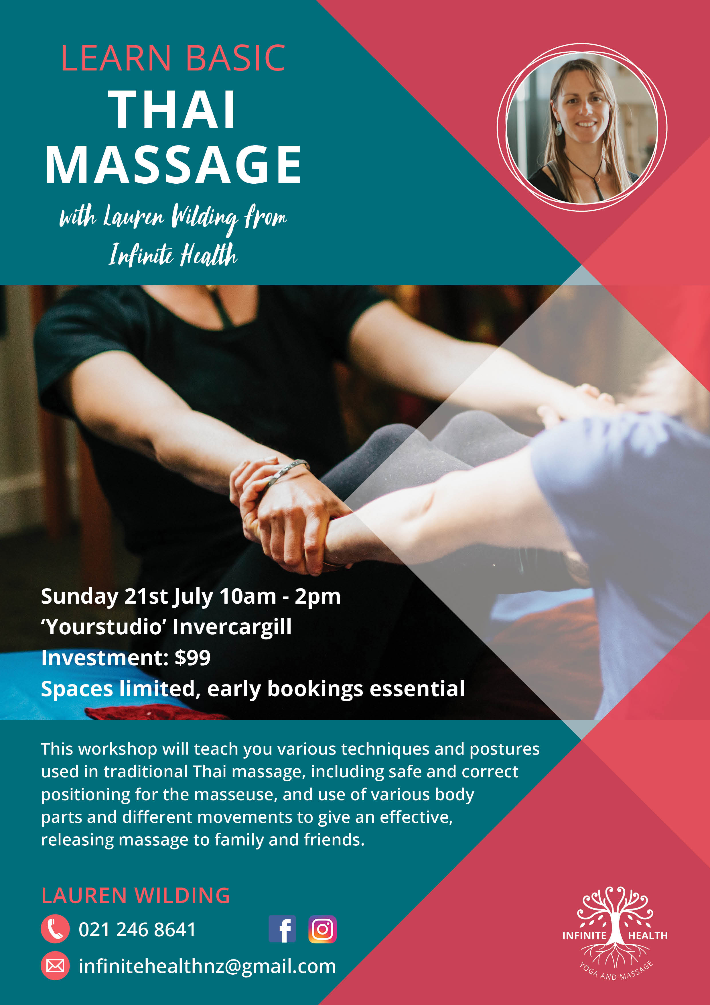 Learn Basic Thai Massage Workshop — Your Studio
