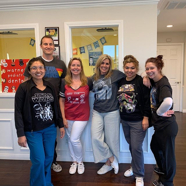 A special thanks to all the people who celebrated Star Wars Day with us! #warnerpediatricdental #homeofthehappyteeth #maythefourthbewithyou #encinitaspediatricdentistry #maytheforcebewithyou #BrushLikeAJedi