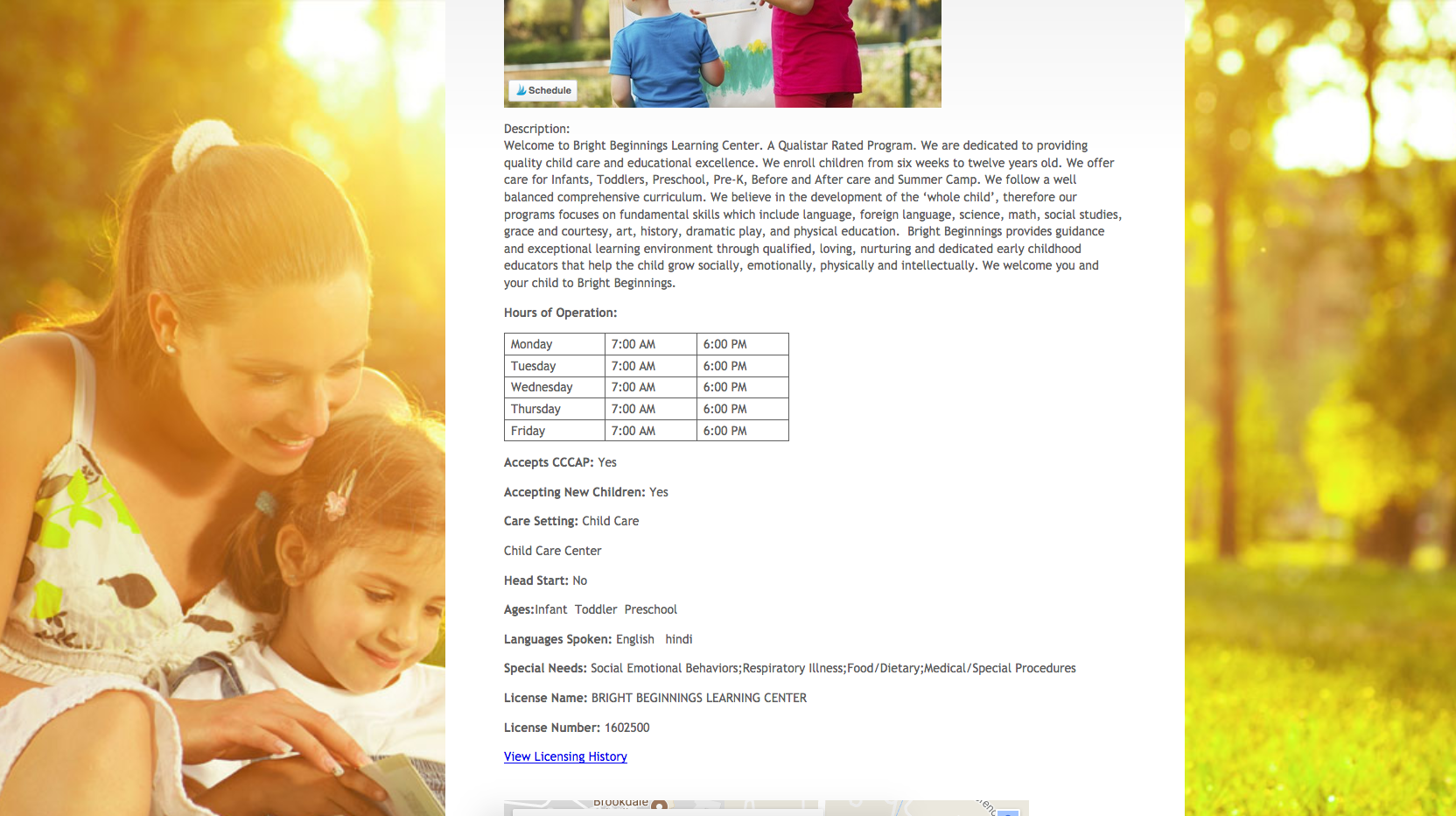 Easily search for daycare or preschool options through Colorado government's Colorado Shines online database!