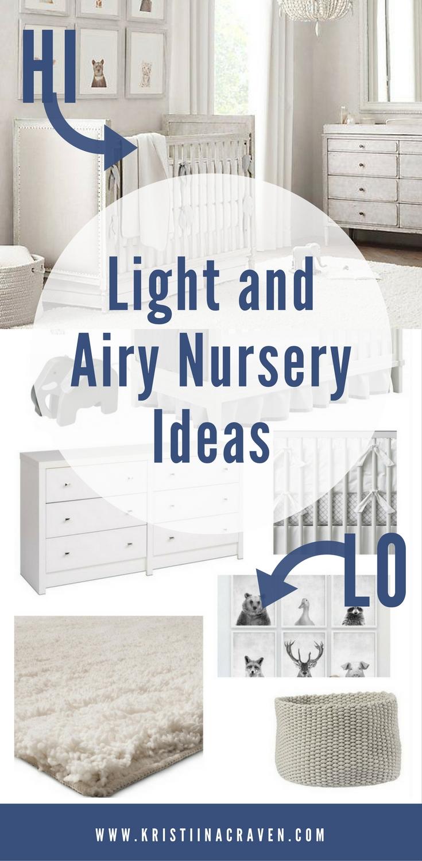 Light, bright, airy, and neutral nursery ideas on Kristiina Craven Photography blog today! | Denver Newborn Photographer