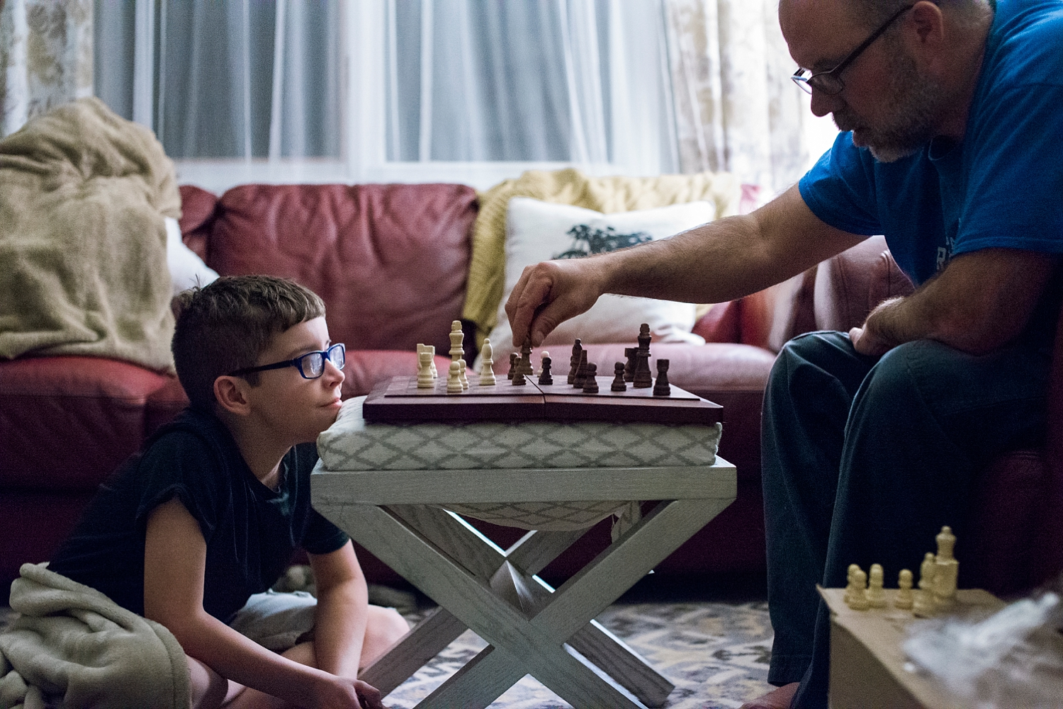 Townes and his dad battle it out on the chess board! | GettingUnschooled | #homeschool #unschool #roadschool