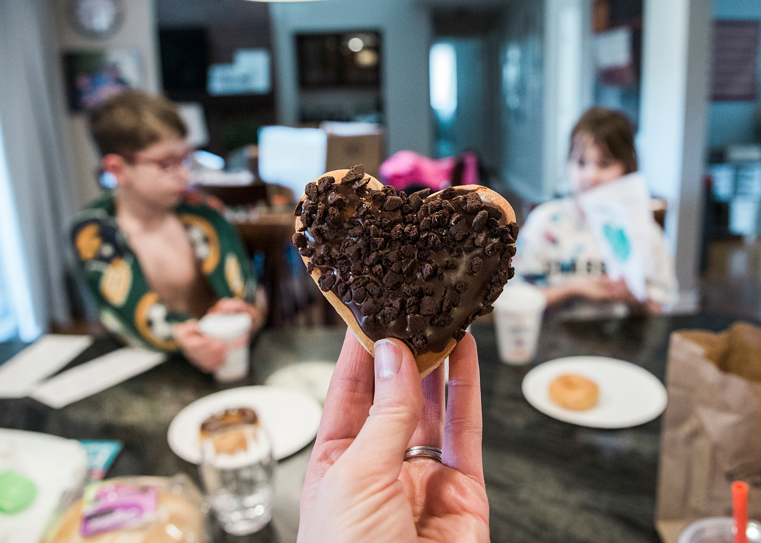 A little valentine's treat for the kids from Dunkin Donuts! |Getting Unschooled is a family lifestyle blog about unschooling, over-40 style, and non-toxic beauty. Thanks for repinning!