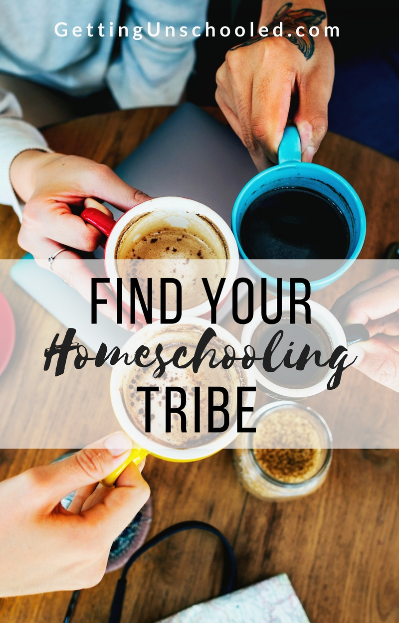 Homeschooling can feel isolating!  Check out these awesome tips on how to find your tribe when you homeschool/unschool your kids :)  | Getting Unschooled is a family lifestyle blog about a family of four in Denver, CO, who unschool their kids.   Kristiina also writes about homelife, over 40 style, and non-toxic beauty.  Thanks for pinning!