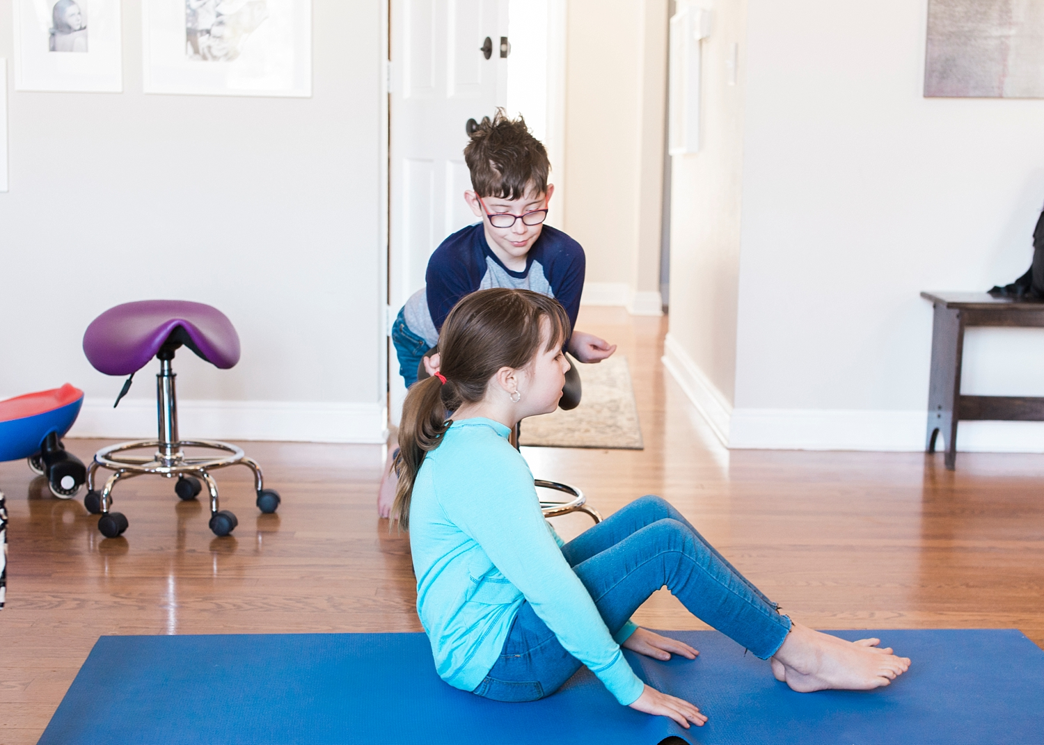 Work those abs! We're trying to incorporate more recess and exercise into our typical unschooling day! See what else we've been up to over on the blog :)