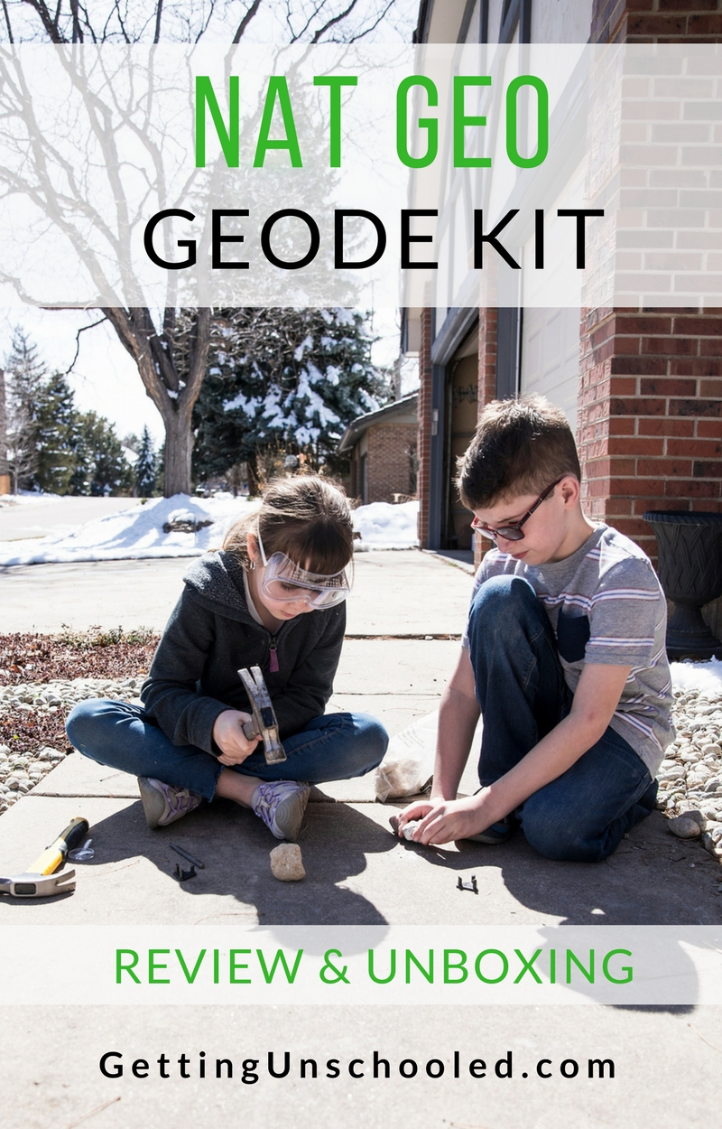 Want to see what comes in the National Geographic Break Open Premium Geodes box?  The kids did their very first unboxing video on their new youtube channel :)  Check it out!
