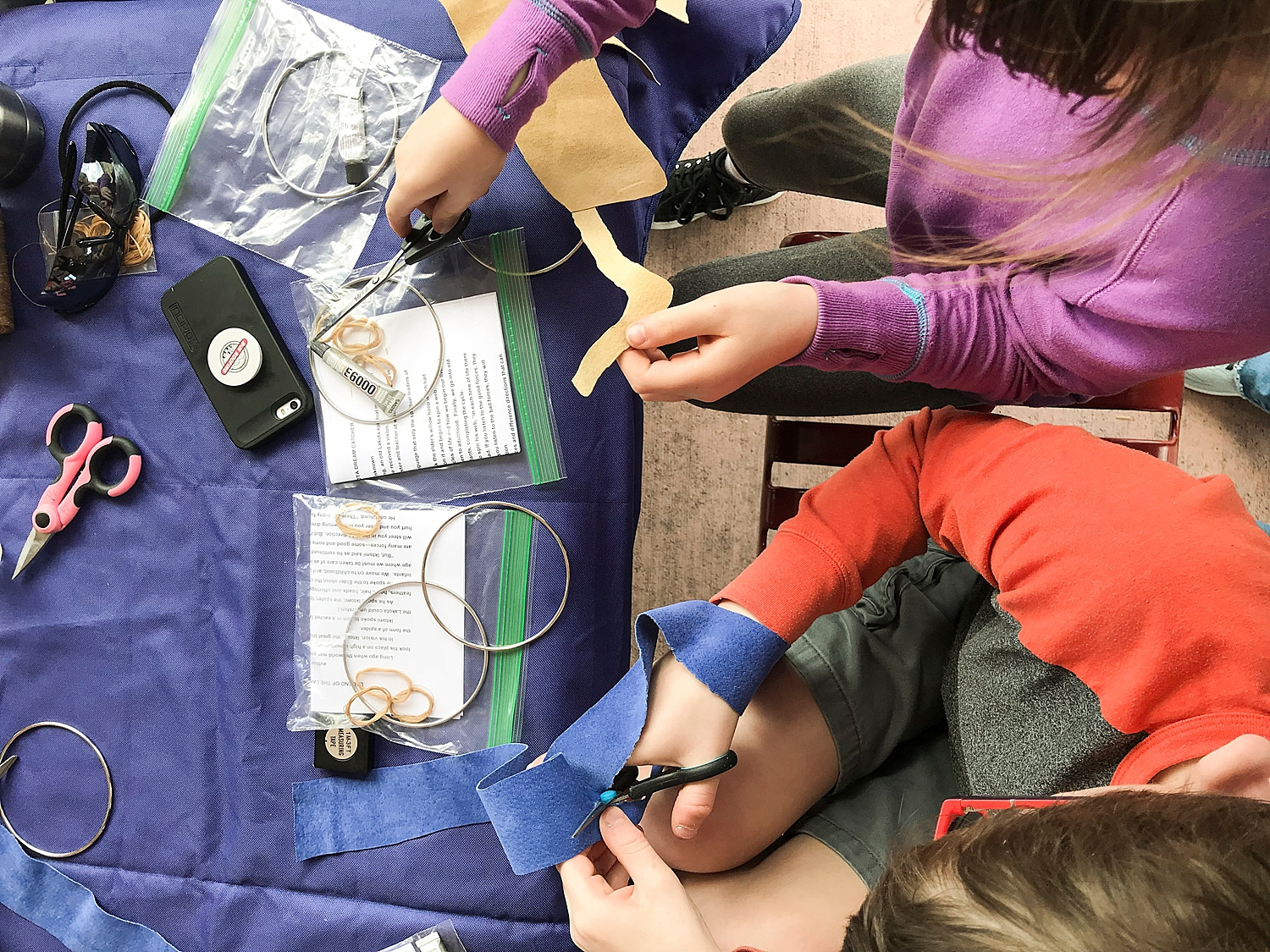 The kids made their own dream catchers in this week's week in the life of an unschooler!