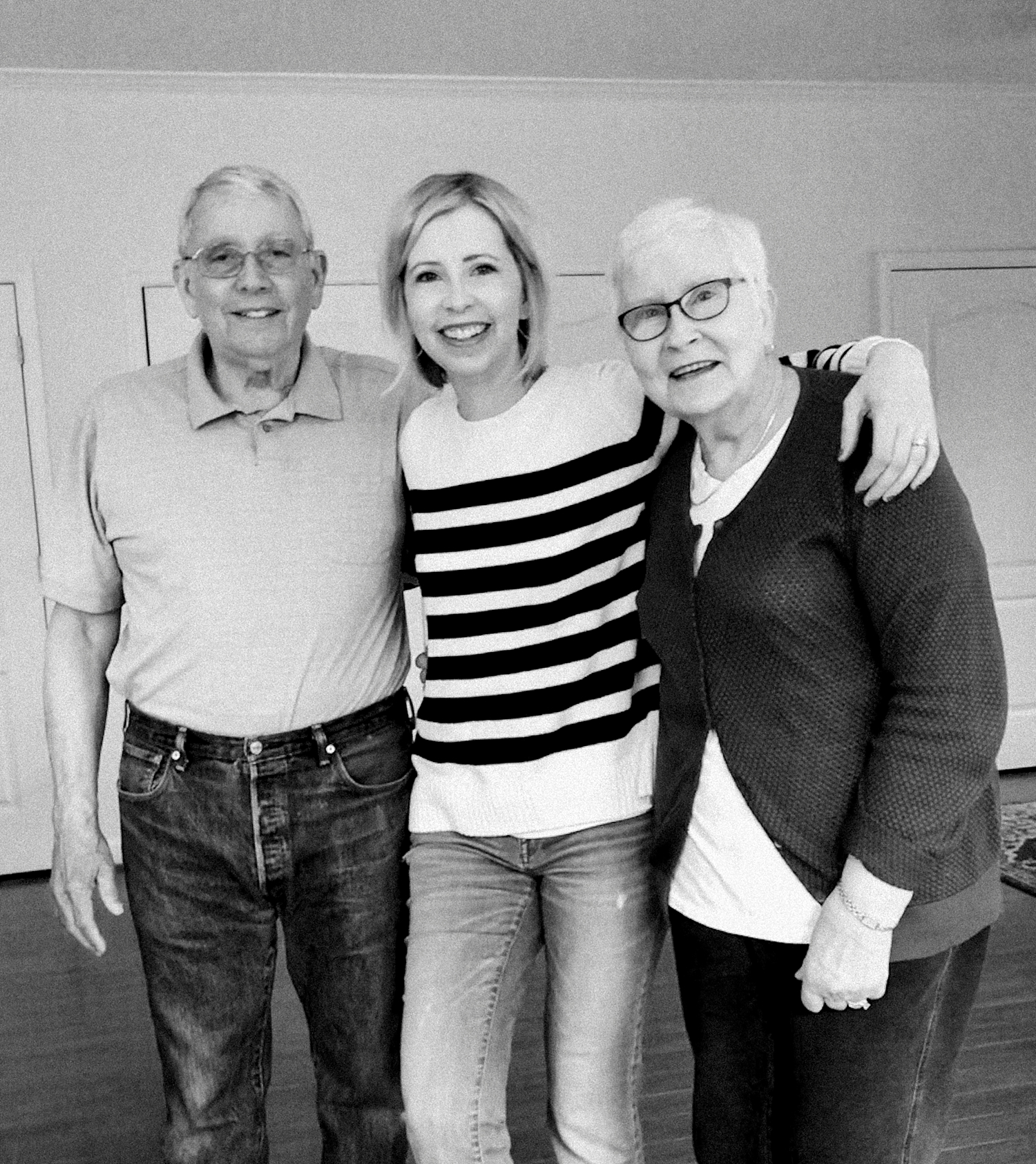 Grainy, or not, I have a great picture with my parents. Get in the frame, mamas!!