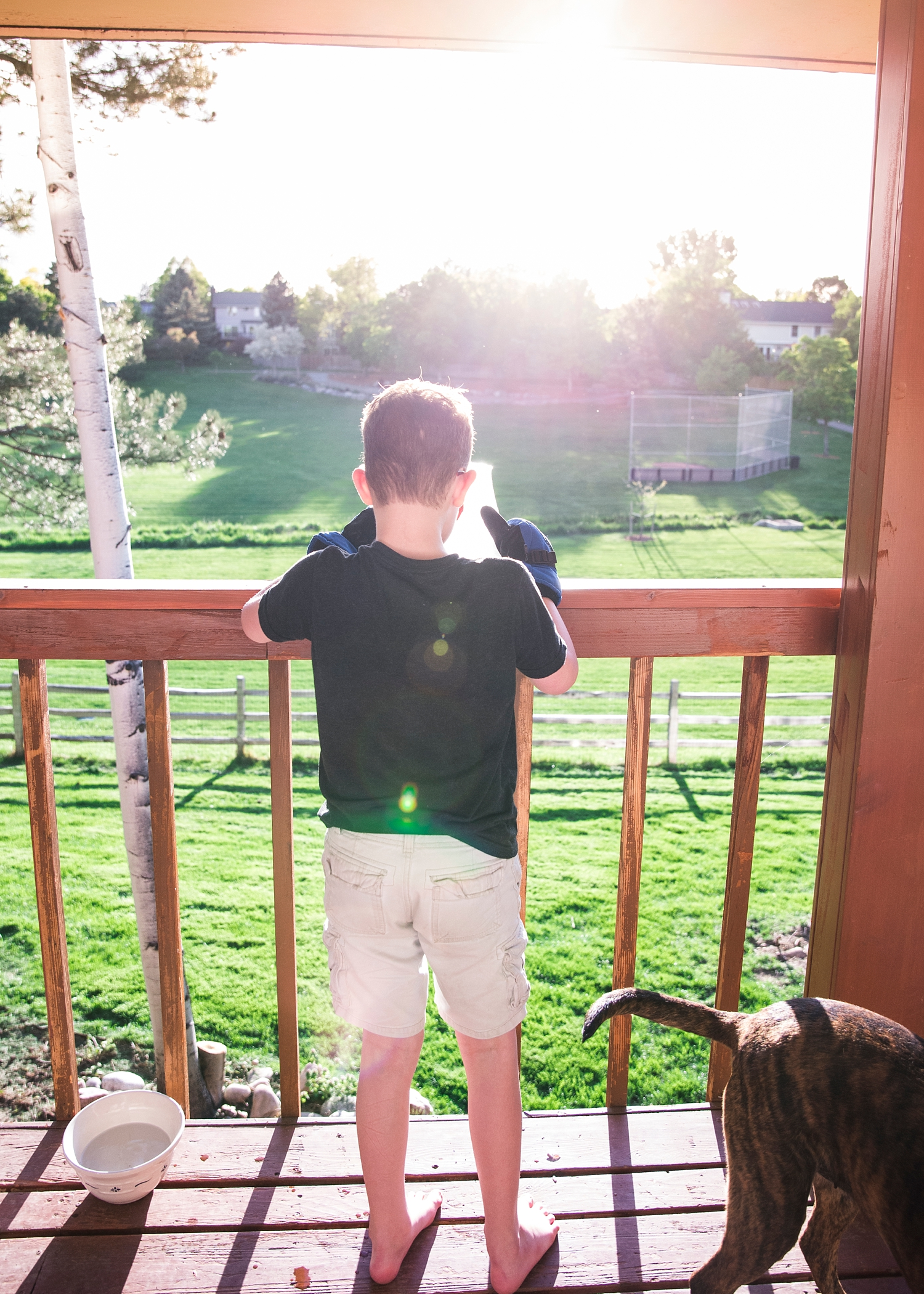 Throwing ice off of the deck?  Always a good idea :)  Why homeschooling is good for our kids is showcased in our Week in the Life of an Unschooler post today!