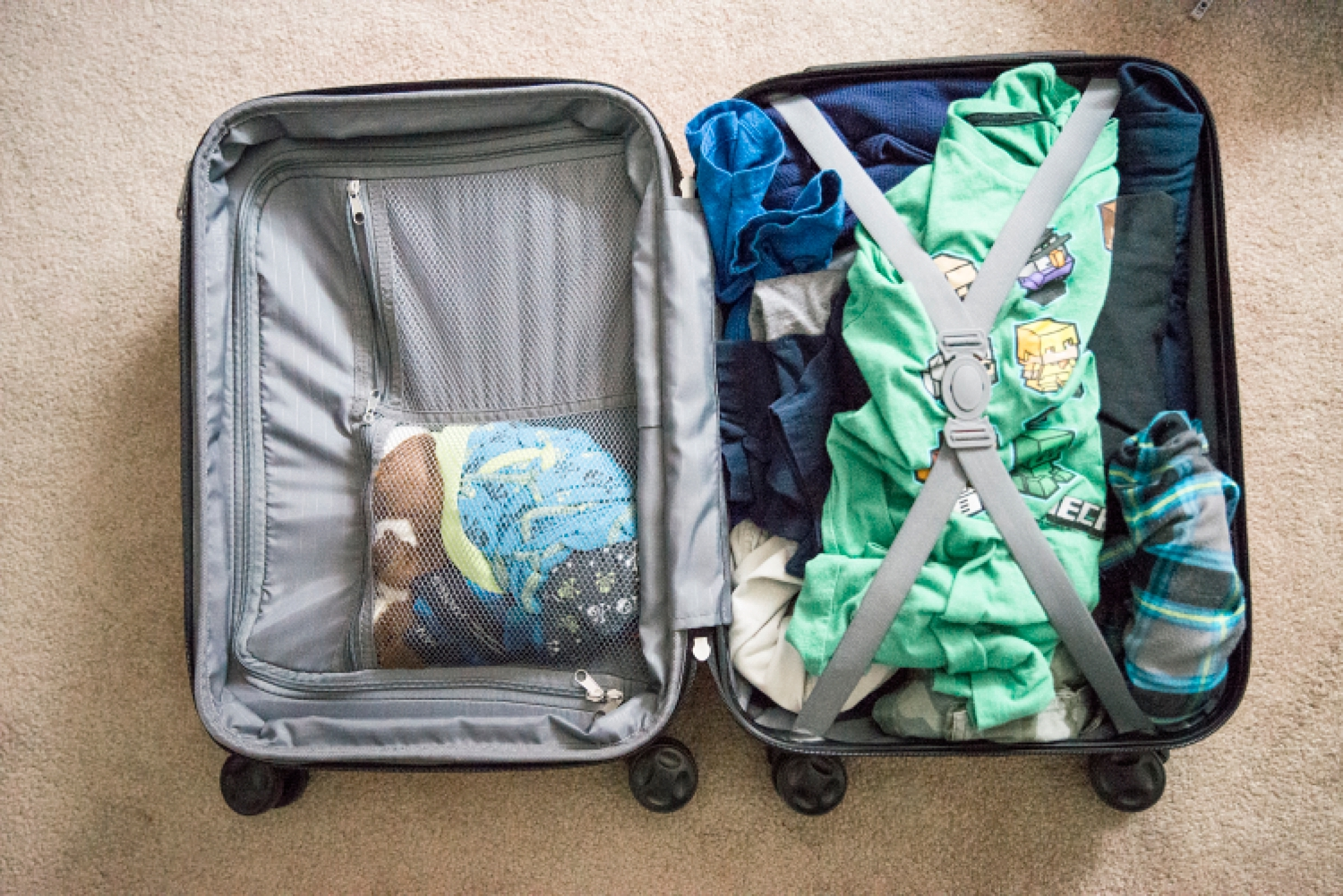 The AmazonBasics line of products is fantastic and they even carry the best kids rolling suitcases--for under $50!