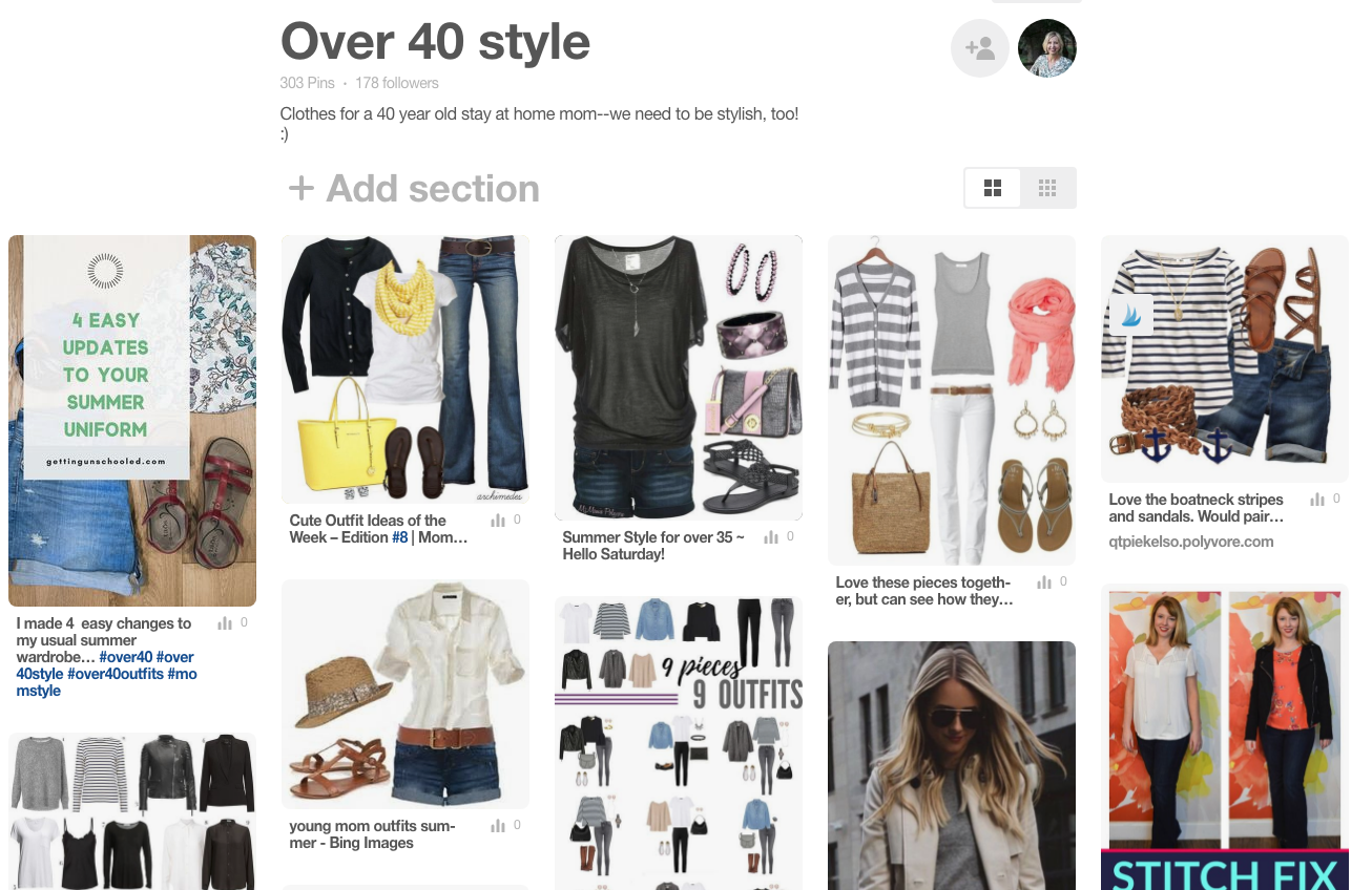 """Cute style ideas for women over 40 on my """"Over 40 Style"""" Pinterest board---come join the fun!"""
