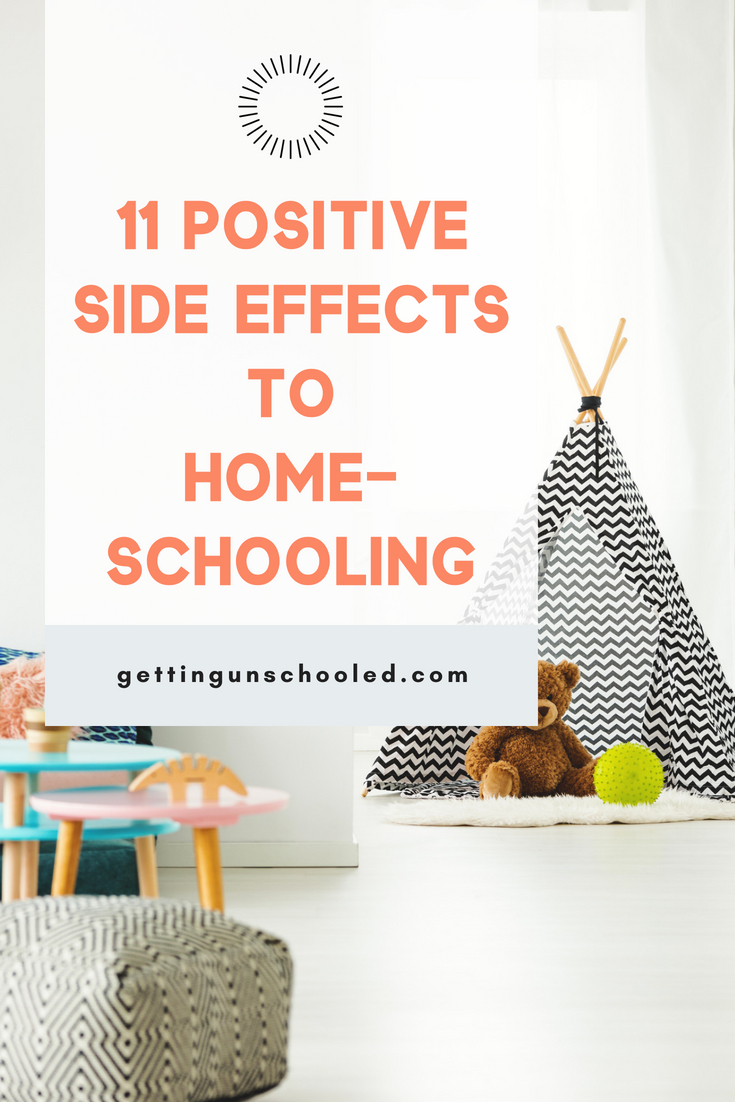 Check out this fun post about the positive side effects of homeschooling your kids!  SO GOOD :)  Thanks for pinning!