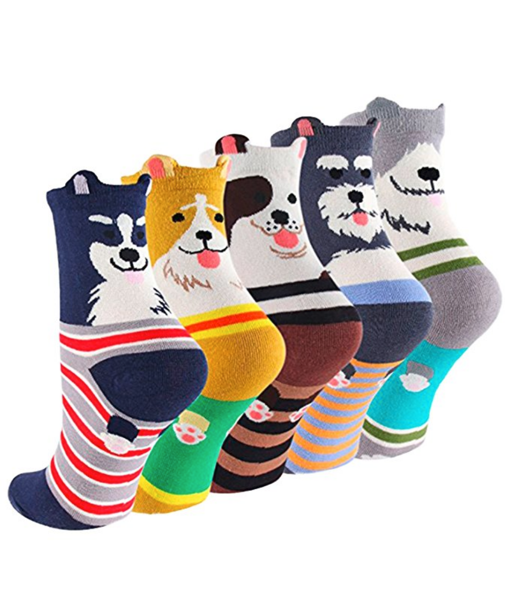 Our 11-year-old girl is going to flip over these cool dog socks!!