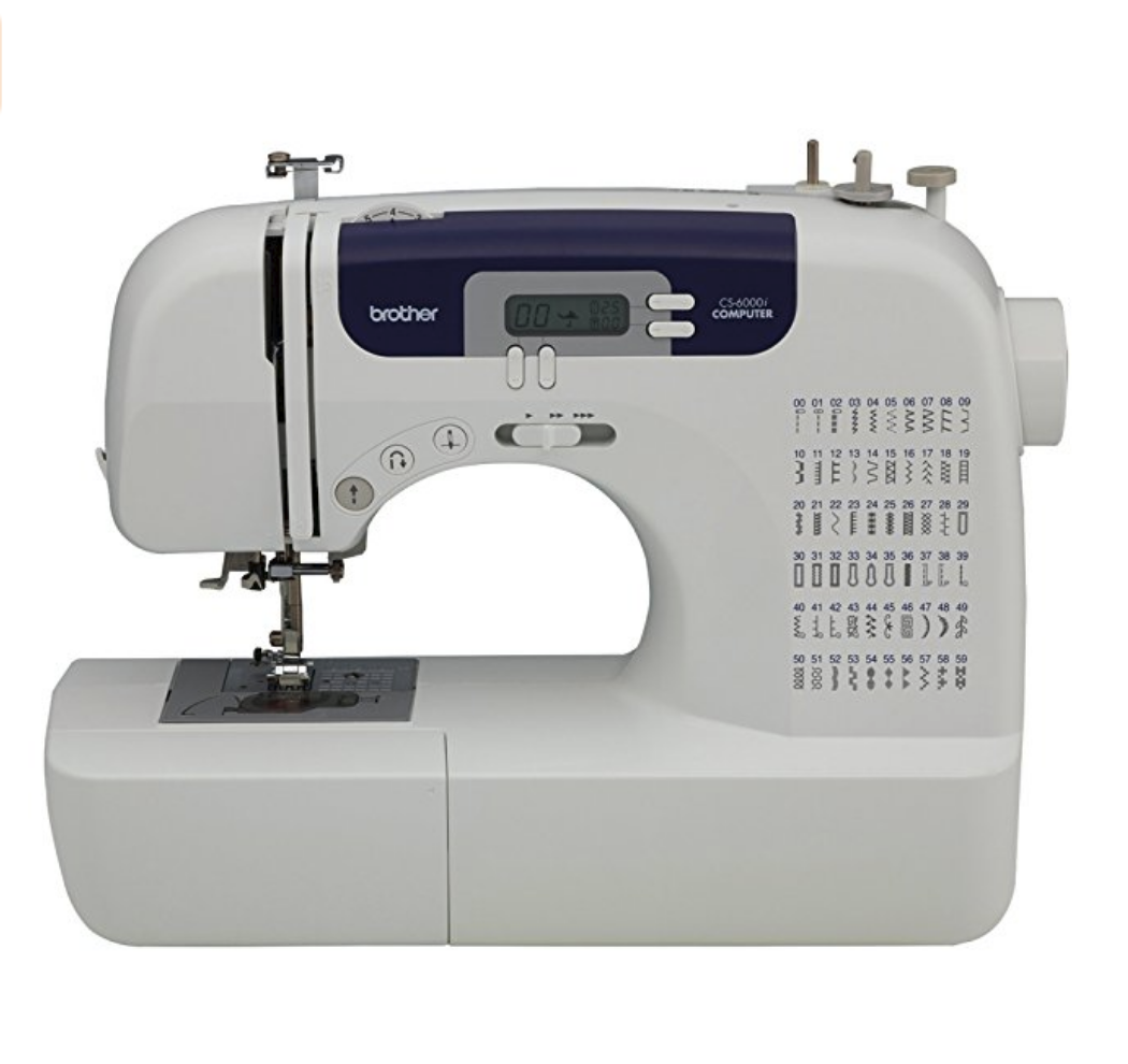 """We love our Brother CS6000i sewing machine. And by """"we"""" I mean """"Kate"""" LOL Because I couldn't sew to save my live!"""