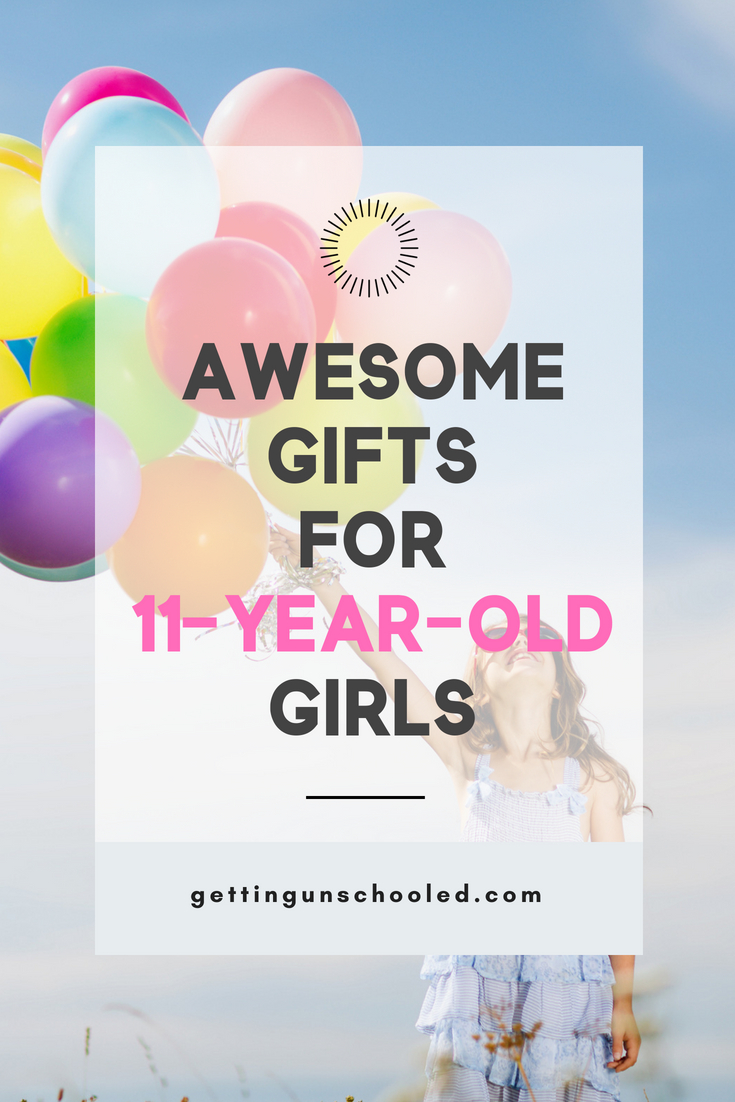 Need some great ideas for an 11-year-old girl's birthday? I've got you covered in today's round up of gift ideas--organized by category: Sporty, Artsy, Girly, Bookworm, etc! EPIC LIST!! #giftguide #gifts #giftideasgirls #preteen
