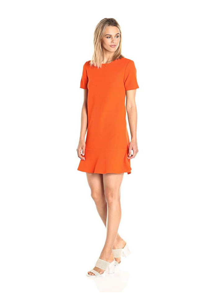 This pretty orange short sleeved dress from Paris Sunday is a great find from Amazon's Fashion private label line.