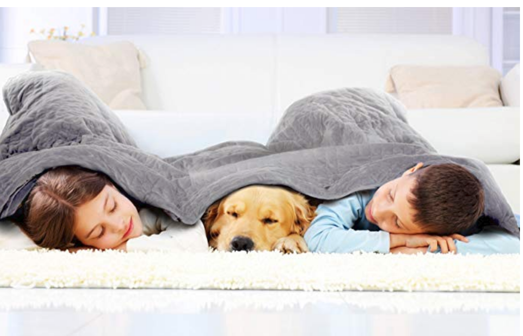 dr. Hart's best selling weighted blanket from amazon