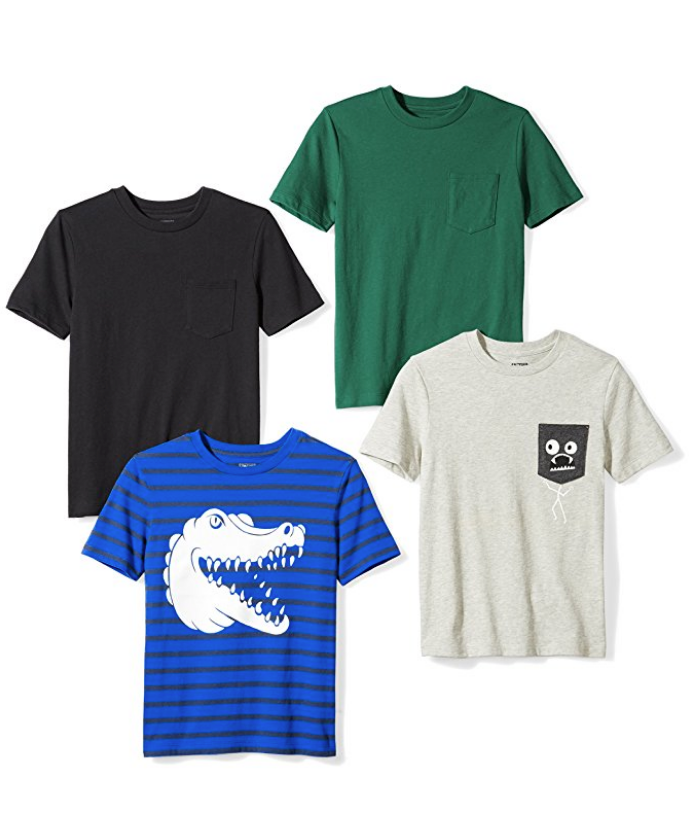 Cool kids t-shirts bundle from Amazon's Spotted Zebra in-house private kid's fashion line.