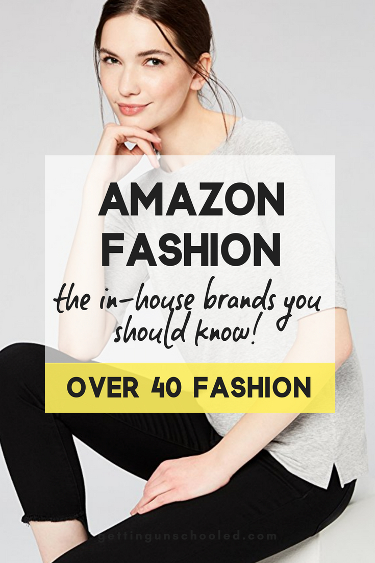 Amazon Fashion's in-house private label brands are seriously worth a look!  You're already shopping on Amazon, so why not try out some of their clothes--especially with their Amazon Prime Wardrobe box service.  Budget friendly, stylish clothing lines delivered to your door!!  :)  #over40fashion #over40 #amazonfinds