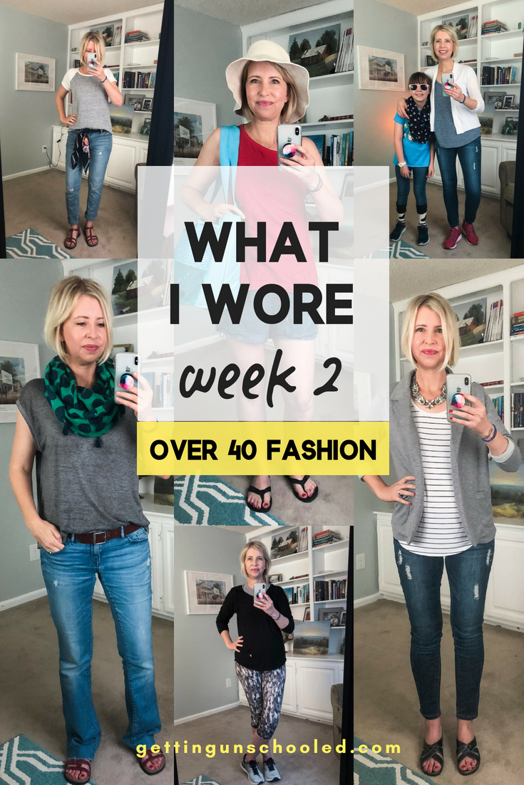 I'm back at it with my mom and date uniform from my what I wore last week series--week 2! I'm no fashionista, but this is so fun!! I hope you enjoy seeing how I put together comfortable outfits with a little flair! Women's style and fashion ideas for the over 40 moms on the go :)