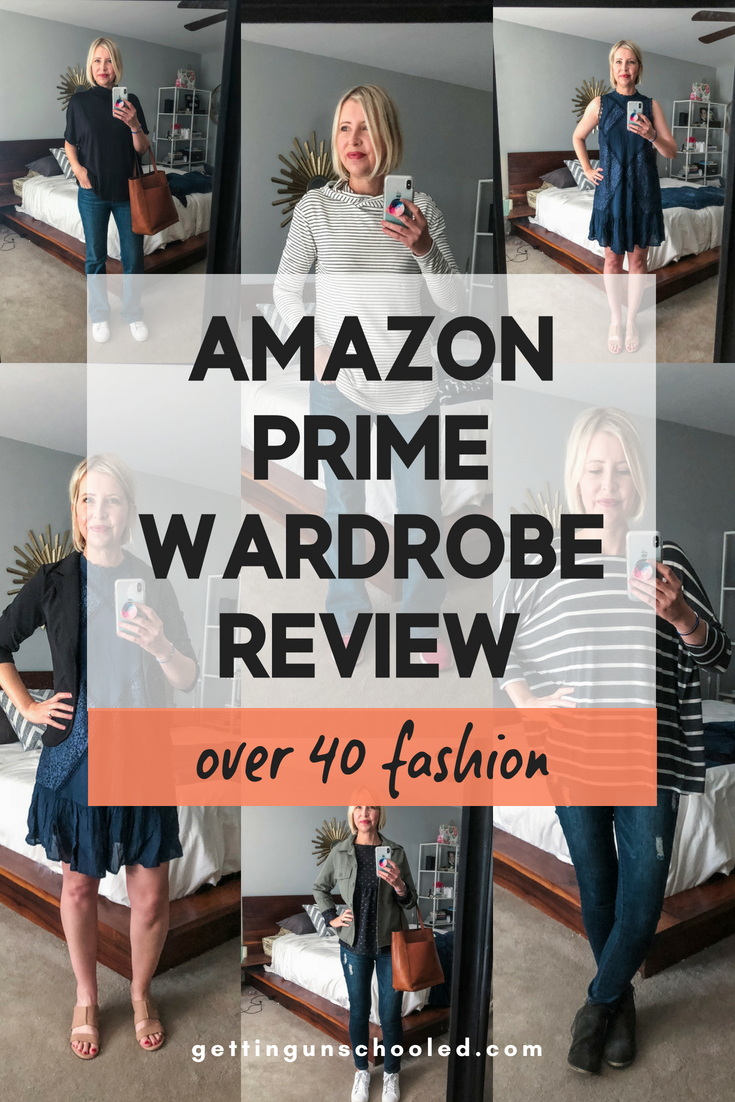"I ordered my very first Amazon Prime Wardrobe ""subscription box"" and had so much fun trying on all of the pieces!  Come see my review of the process and what I decided to keep :)  #over40fashion #over40style #fashionforwomenover40"
