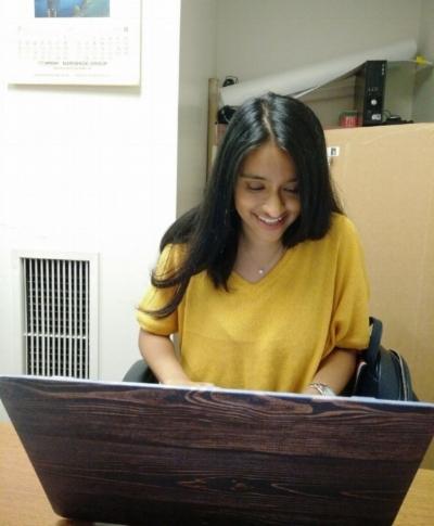 Tanzina Islam finishing up some data analysis before heading back to Princeton