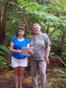 Hawai'i Island Director, Janet Britt & Linda Jane Irwin, owner.