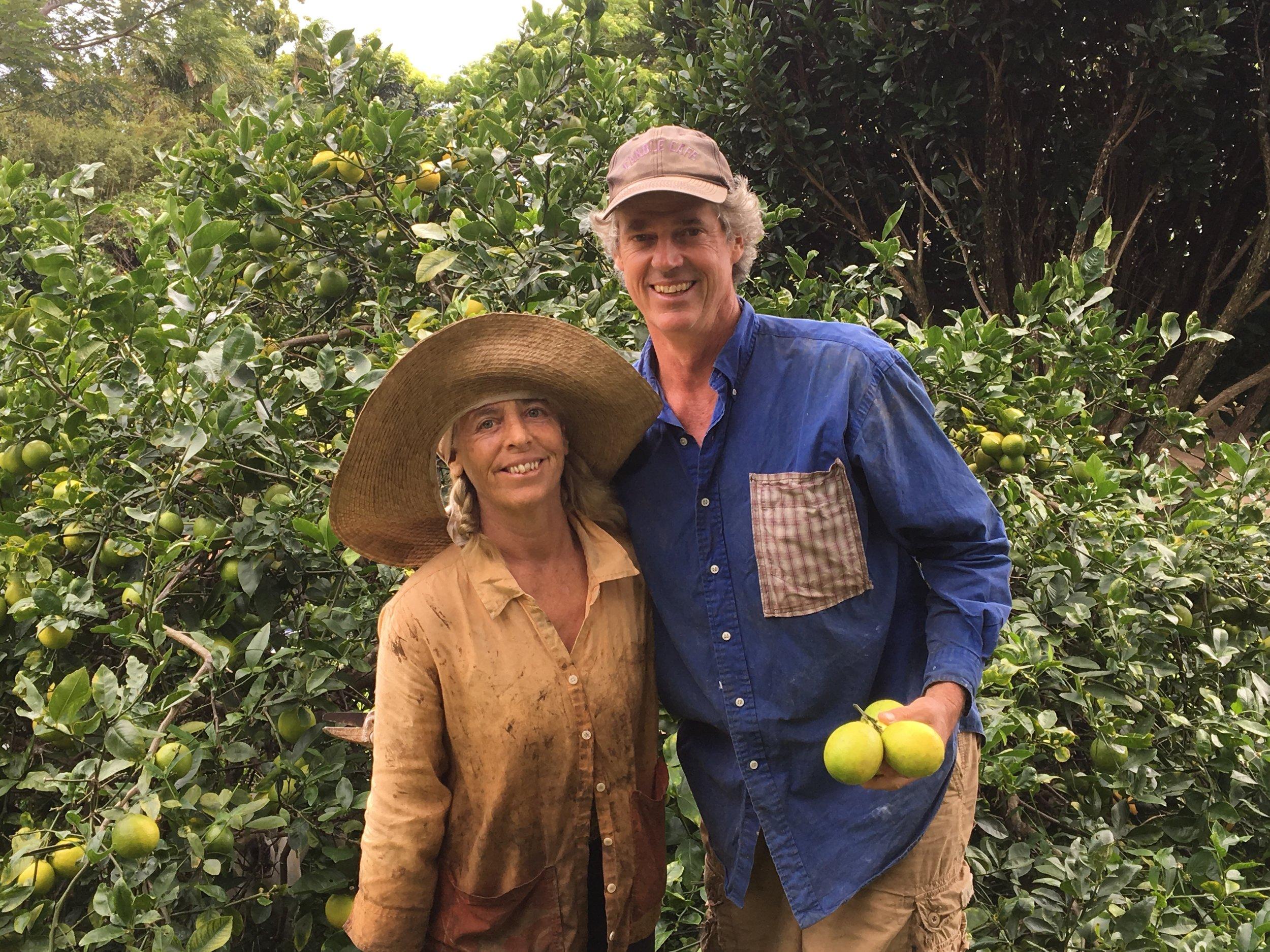 """""""Happy Farmers."""" - Landowners Rich & Virginia"""