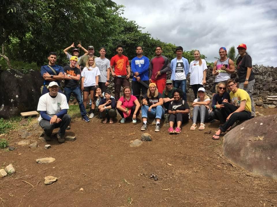 BYU Hawai'i Students attend a Volunteer Day at Maunawila Heiau, O'ahu