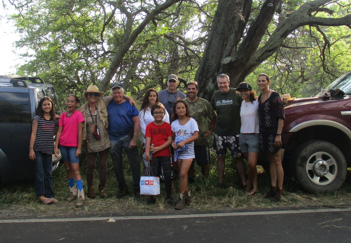 Coring Team after a day in the mud at Nuu, Maui