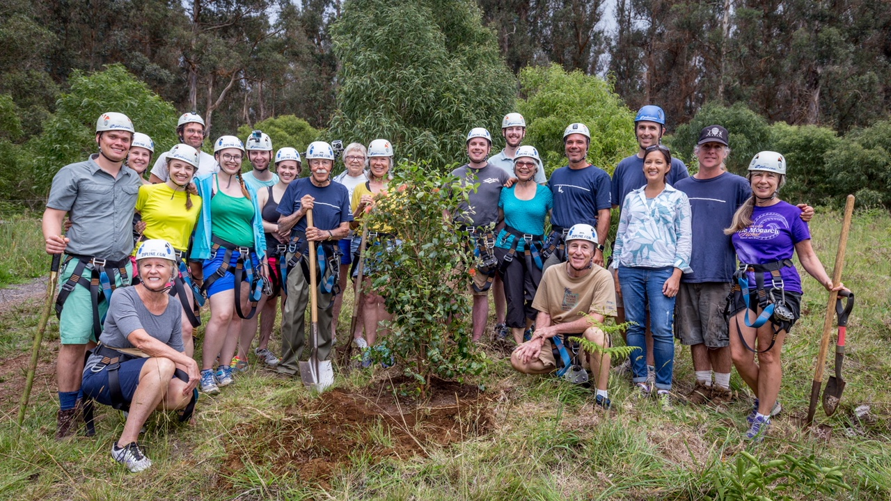 The Skyline Eco-Adventures Team at a recent tree planting event