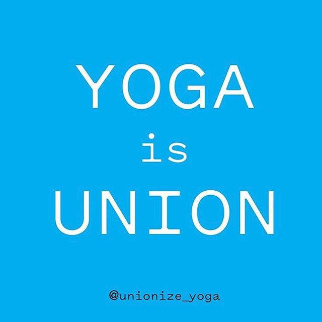 """""""Yoga teachers unionizing is one of the most exciting things to happen in the yoga industry. People have a right to organize themselves and demand fair pay and just conditions. @yogaworks should be supporting the #wellness of their teachers, not union-busting. #yogajustice"""" - @kkellyyoga  Head to the link in our bio for more on the emerging @unionize_yoga movement! All graphics via their page, which YOU SHOULD FOLLOW! 💗"""