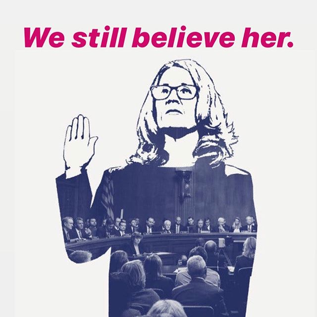 One year ago, #christineblaseyford testified before the Senate Judiciary Committee and changed America. We believed her then. We believe her now. And we are ready to #reclaimthecourt. Join us 10/6 in DC for collective action. #believesurvivors #cancelkavanaugh