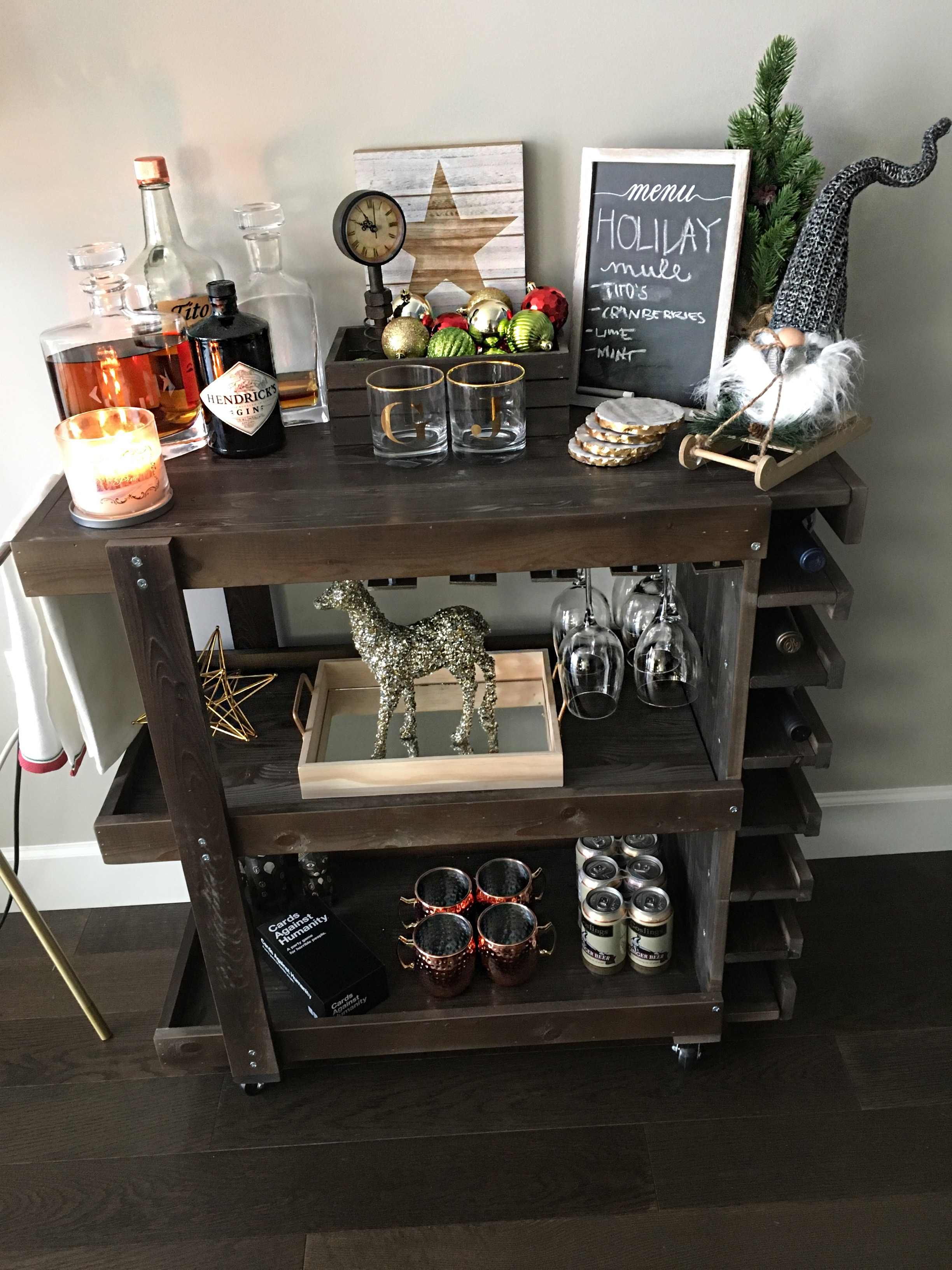 Styling The Bar Cart Style Speaks Gold