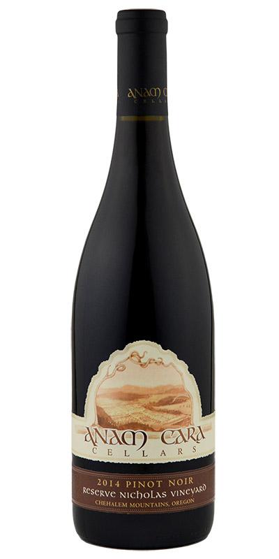 2014 Nicholas Vineyard Reserve Pinot Noir  Download JPG   Download PNG