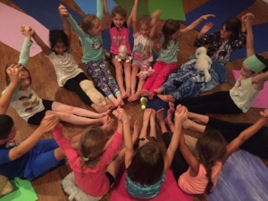 Tuesday night kids yoga friends!