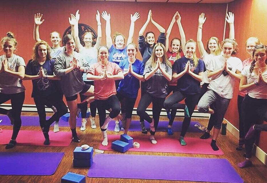 This team rocked it in their Yoga for Athletes session. Nice work everyone!