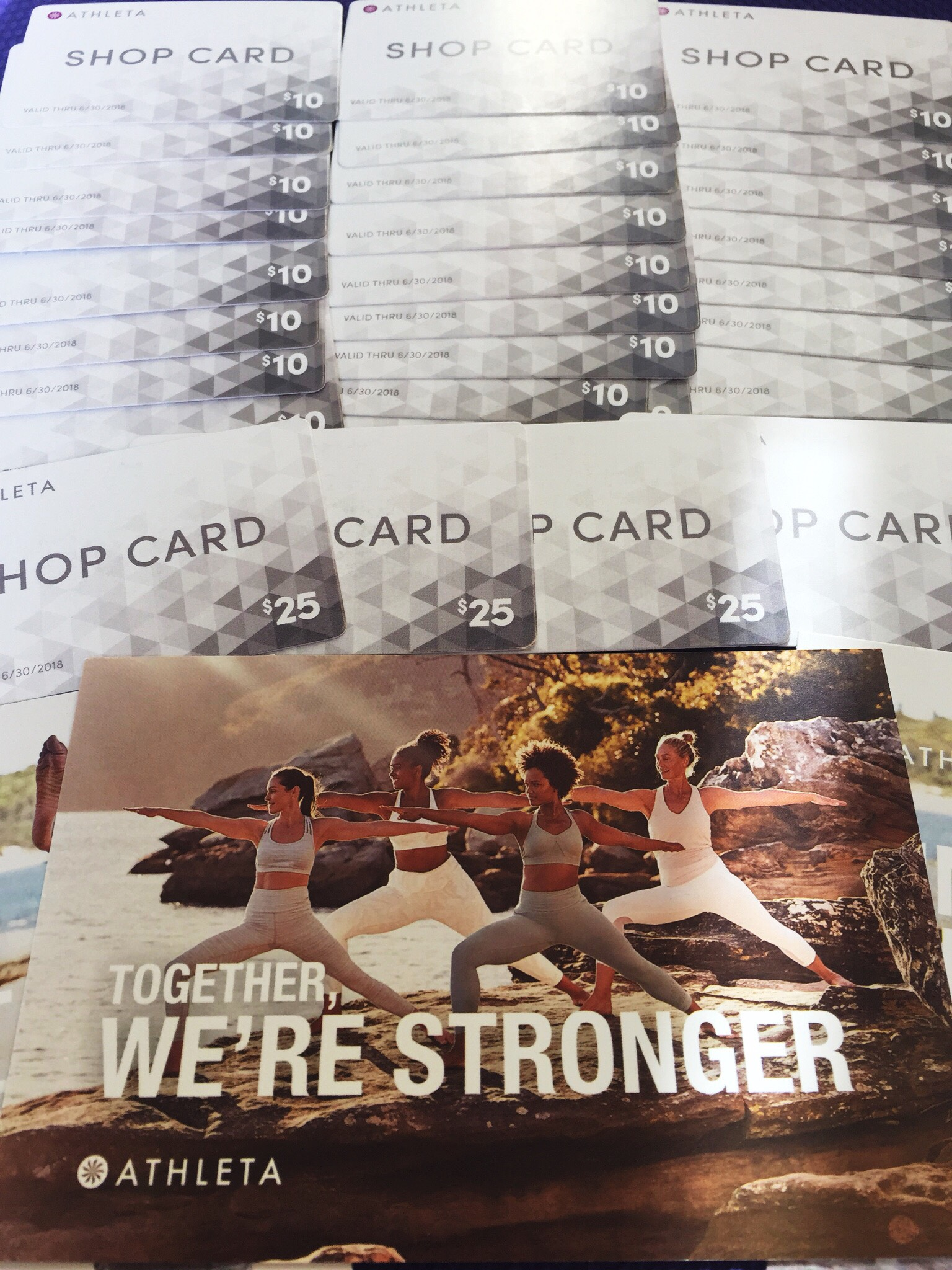Gift cards all ready to go. Raffle winners start with our Tuesday 6PM kids and adult classes!