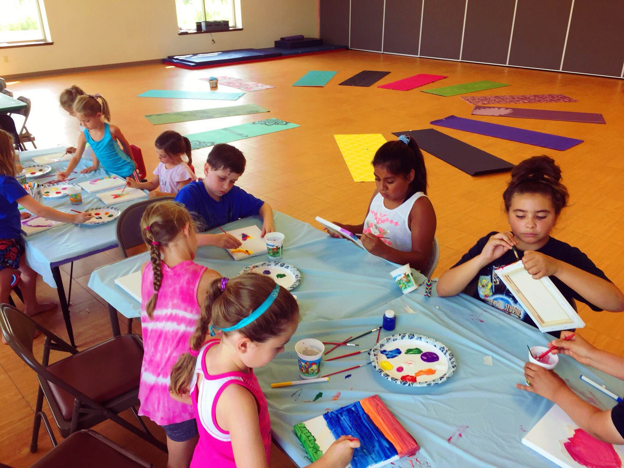 Yoga art! A mindful moment combined with lots of creativity.