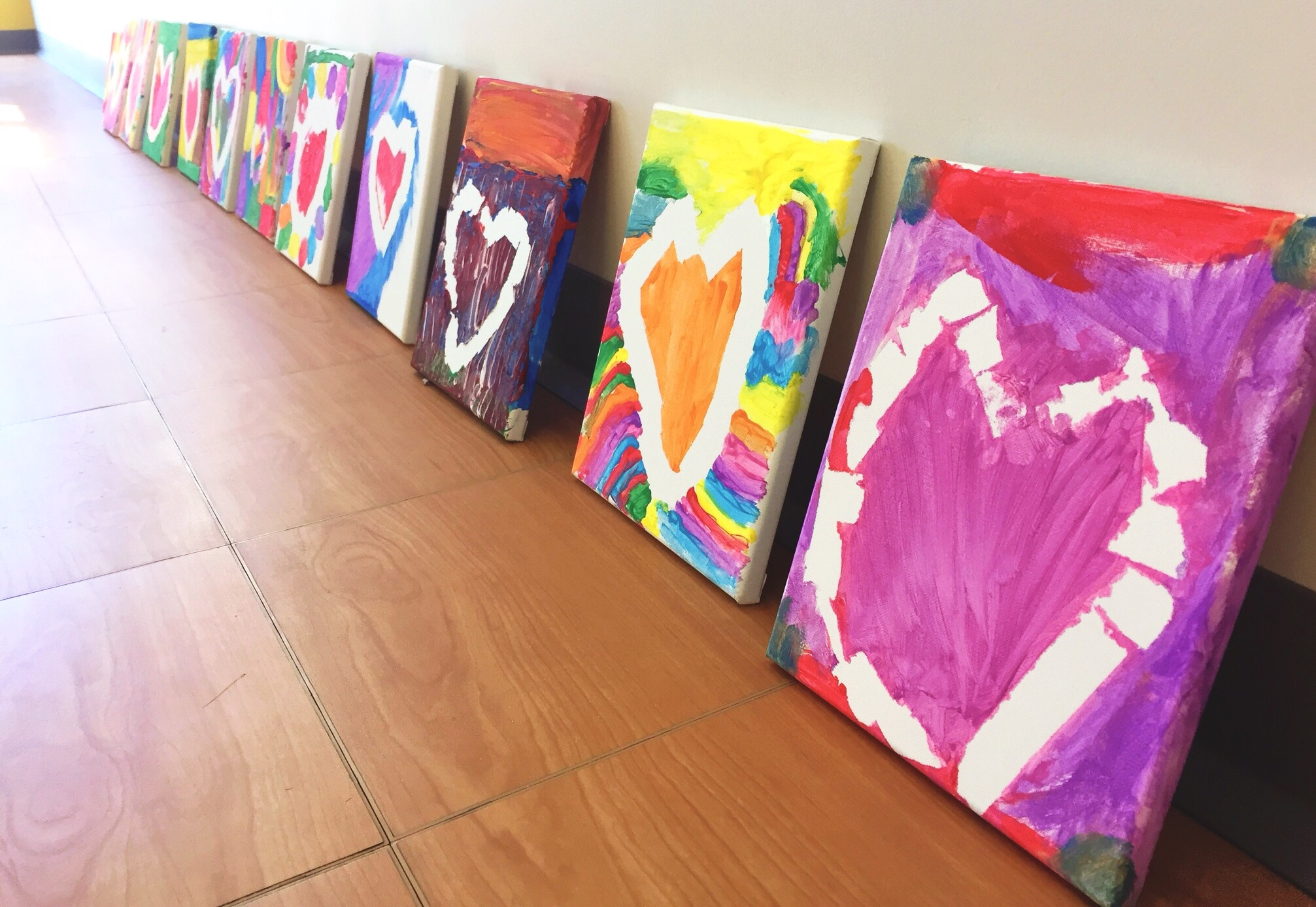 Canvas art. With a whole lot of heart!