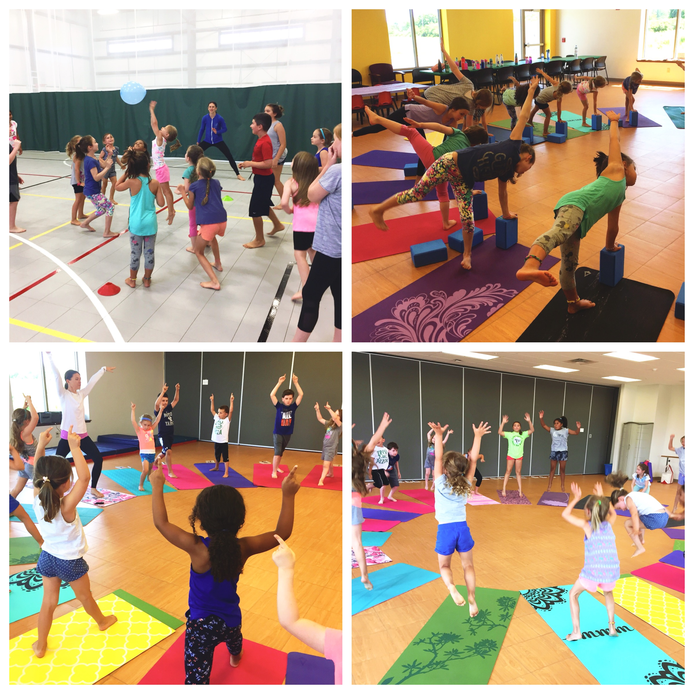 We talked a lot about being strong, active and healthy. Lots of active yoga...on and off the mat!