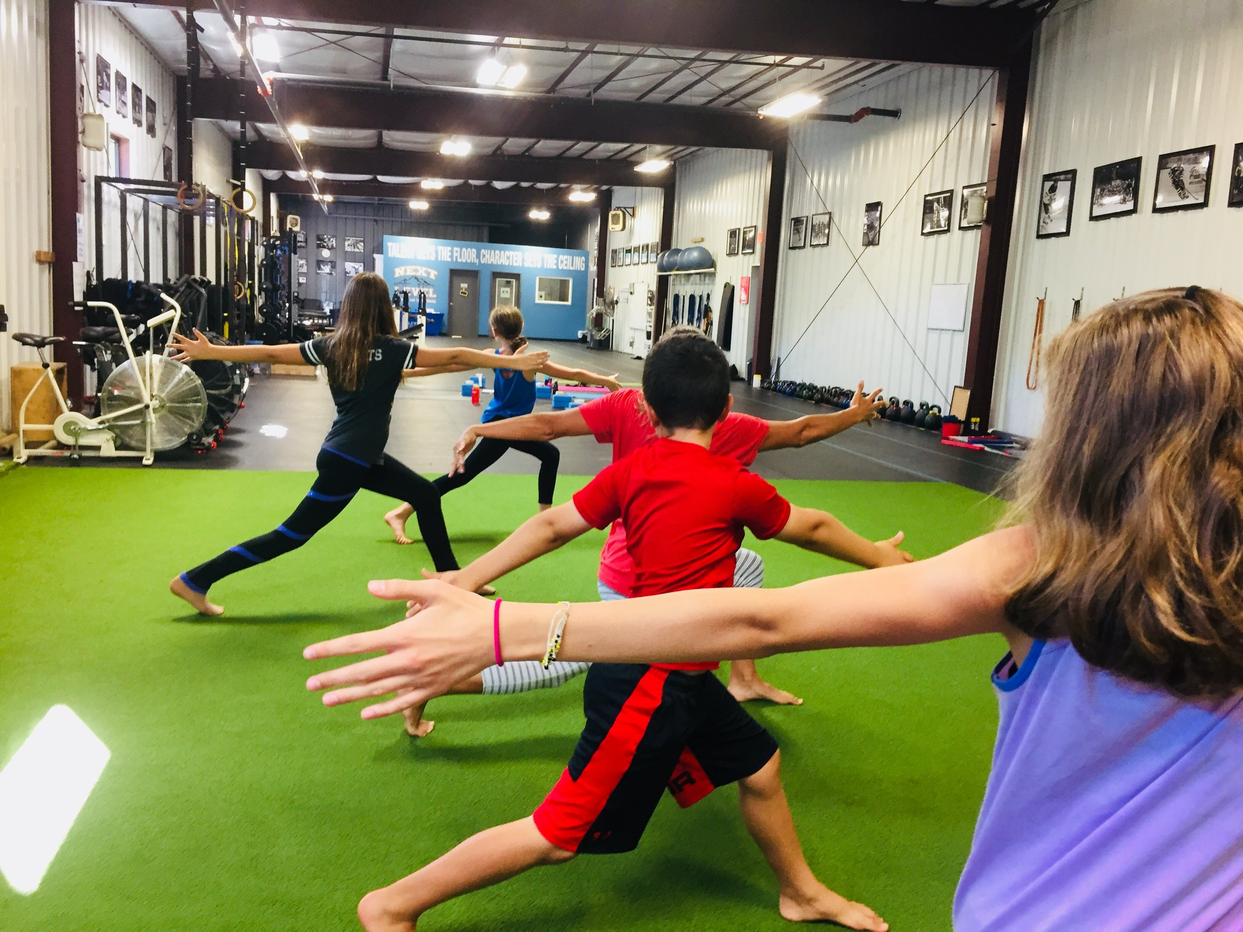 Yoga for Athletes , great work taking yoga from the mat to the turf for yoga mobility work. Classes for athletes are  Sundays @ 4pm  at Next Level Strength & Conditioning (Fairport).