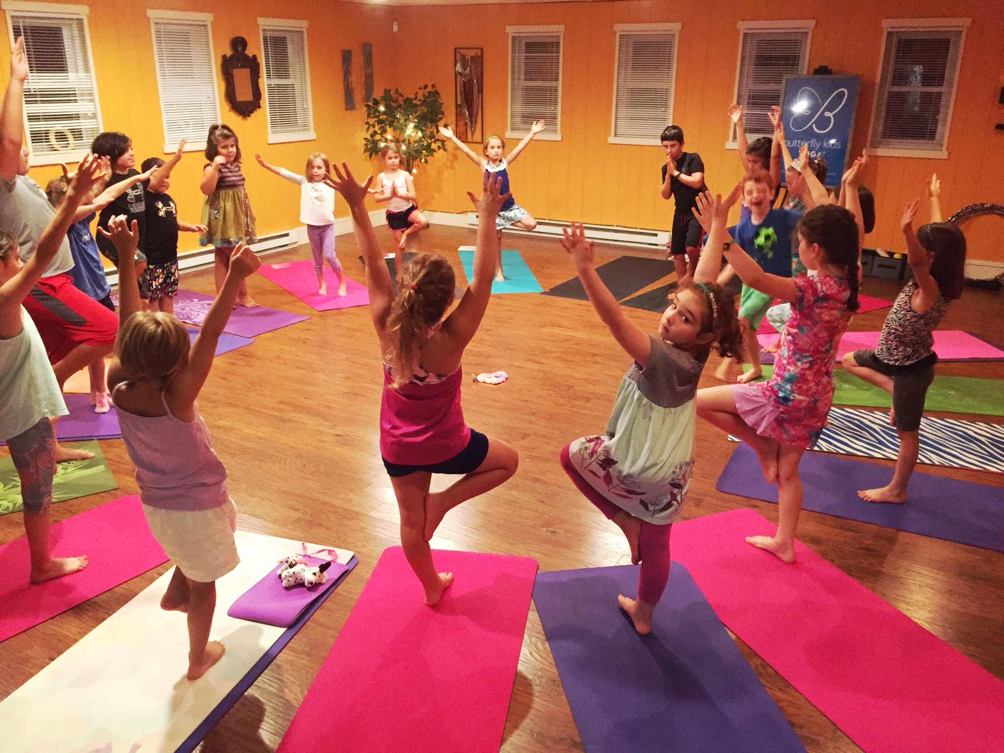 Awesome  Friday Night Kids Yoga Club  this past week! Thanks to all who came. Our next event is coming up on  Friday, October 19th  — hope to see you at the Club!