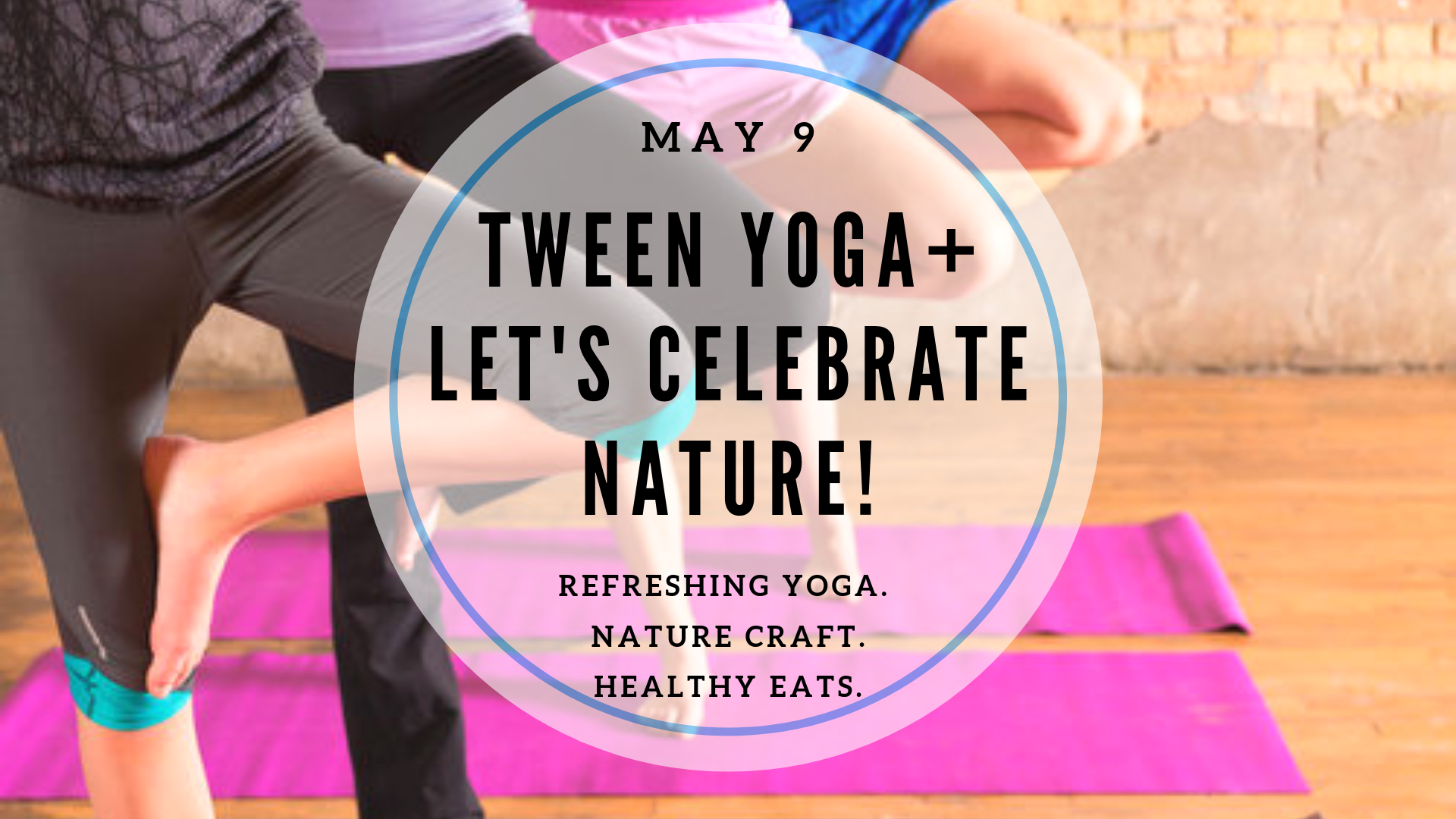 Tweens, time to refresh, renew and celebrate nature! Geared for ages 8-13.  Click here for details and to enroll .