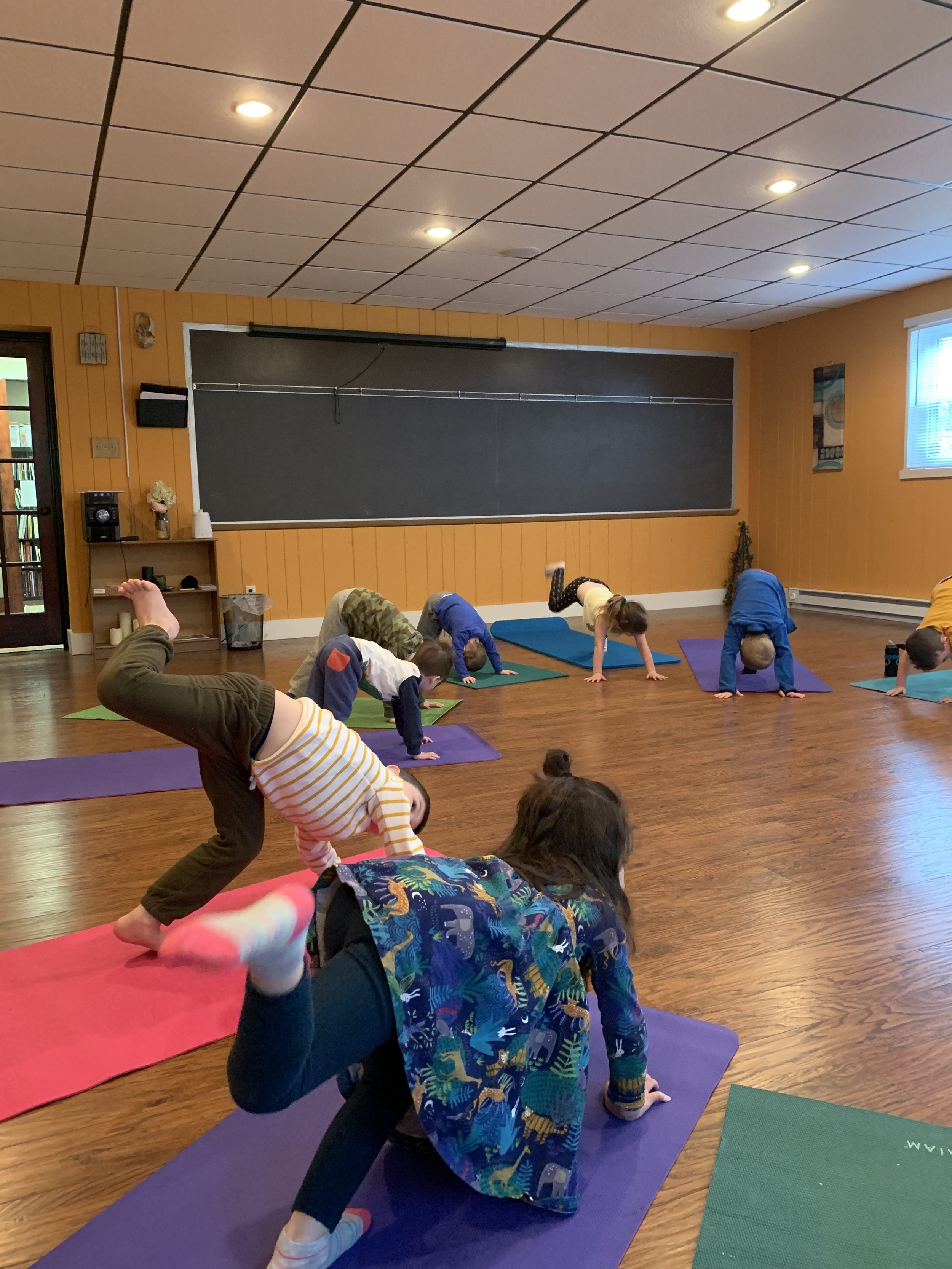 Super job from these young yogis — big strength to accomplish these poses!