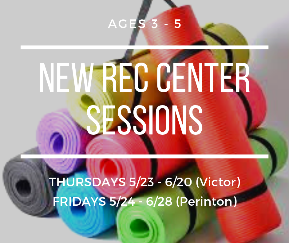 A great class for ages 3-5 in a nurturing environment. Thursdays at 10am at  Victor Rec . Fridays at 10am at  Perinton Rec .
