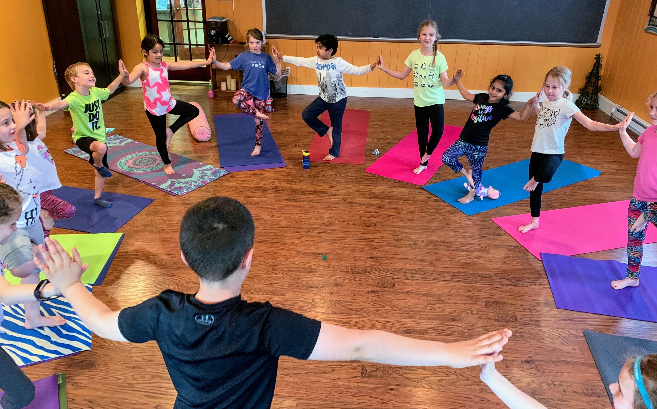 Yoga for You. Yoga for Kids . The kids class showing off great teamwork in this balance challenge. Great job!
